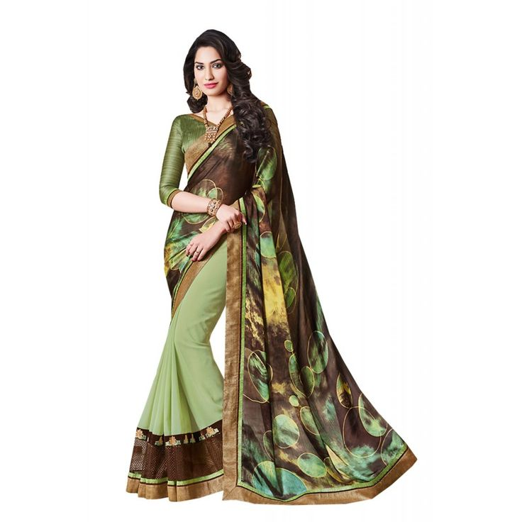 Youre confident to make a strong style statement with this #Aloe #Vera #Green #Jacquard #Saree. The ethnic Lace work at the clothing adds a sign of attractiveness statement with your look.