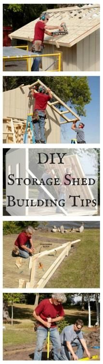 DIY Storage Shed Building Tips: Must-read pro advice on everything from floors to roofs, windows and doors—plus, how to save time and money on your shed. http://www.familyhandyman.com/sheds/diy-storage-shed-building-tips