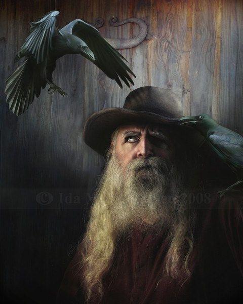 Odin  Print  Bestseller by Mizzdraconia on Etsy, $17.00
