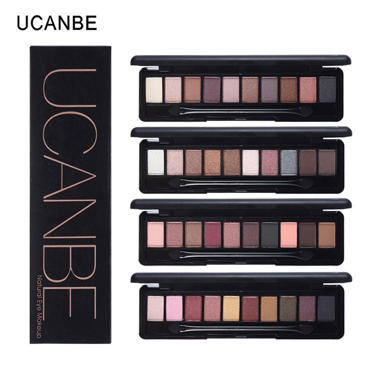 UCANBE marca maquillaje 10 colores cálidos sombra de ojos paleta shimmer mate paleta de sombra de pigmento de sombra de ojos desnuda elegante natural