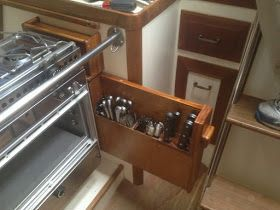 Small Boat Projects   Making Life Aboard Easier: New Stove And New Storage