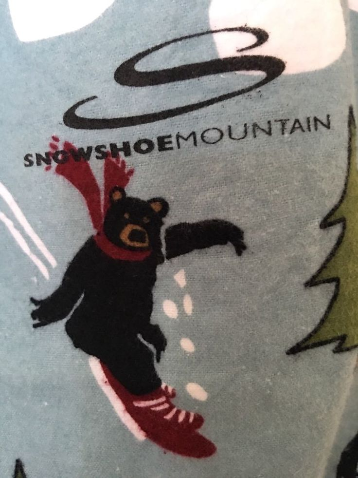 HATLEY Pajama Pant Sz M Flannel SNOWSHOE MOUNTAIN LOGO Christmas Snow woodlands  | eBay