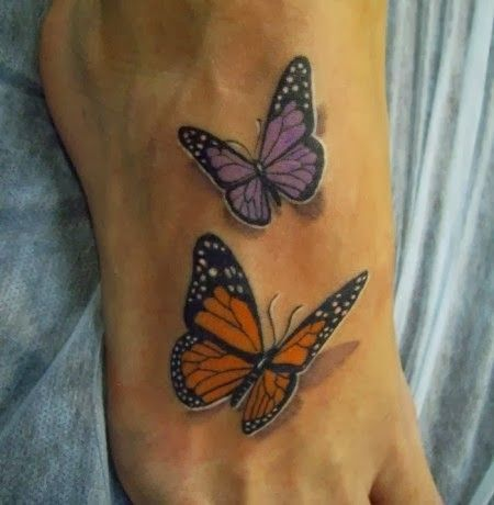 3D butterfly tattoos images for women