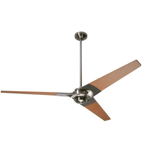 """TORSION Modern Fan, 62"""" $371 84 Airflow Efficiency  6,247 CFM  84 W Electricity Use  172 x 20 motor"""