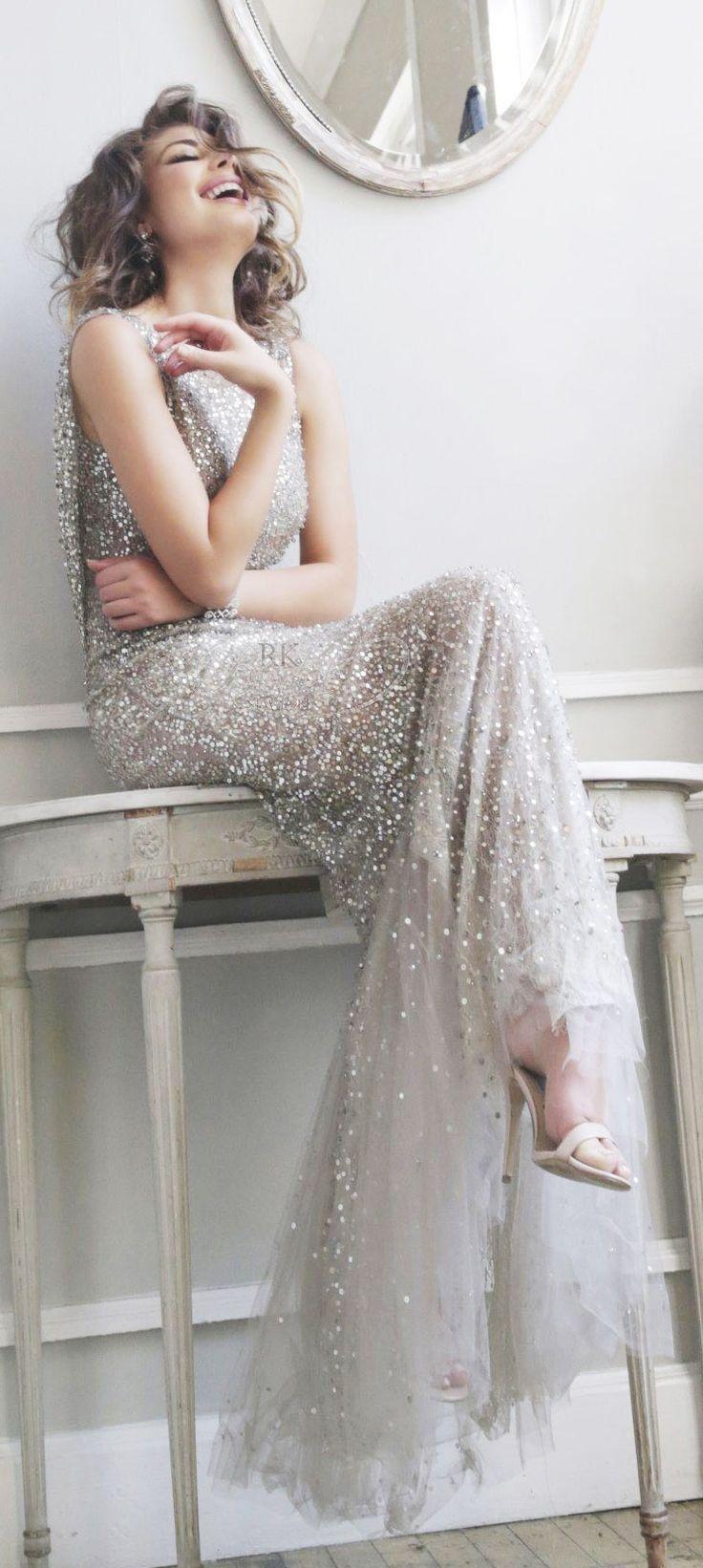 shining silver wedding dress | image via: mod wedding