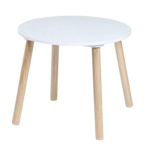 Produit - Table ronde naturel/blanc