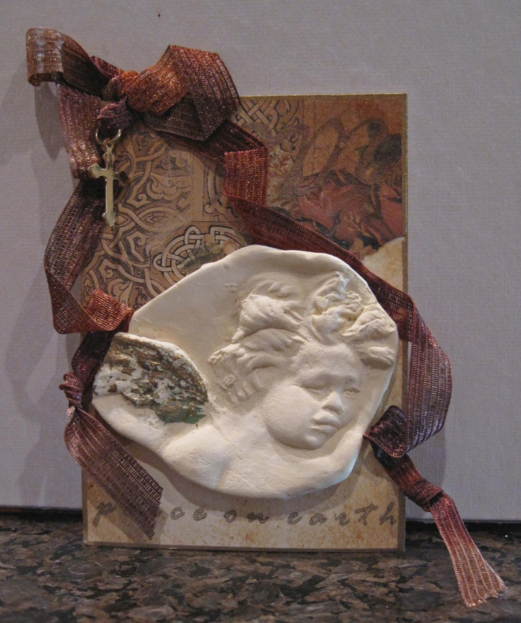 Paper Clay Angel Tag