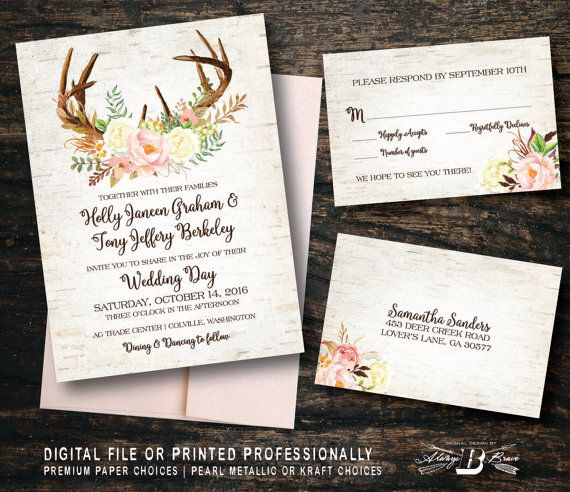 Check out this item in my Etsy shop https://www.etsy.com/listing/469272246/rustic-wedding-invitation-set-birch