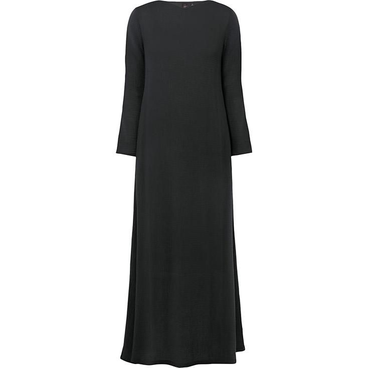Women's Crepe Long Sleeve Dress   UNIQLO
