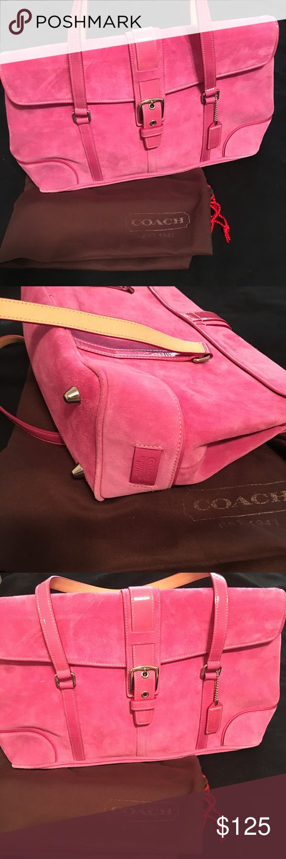 NWT Brand New Pink Suede Coach handbag💕 NWT Brand New Pink Suede Coach handbag💕 Perfect for the new season and could also be a great gift for the holidays!!☺️⛄️❄️💙 Coach Bags Shoulder Bags
