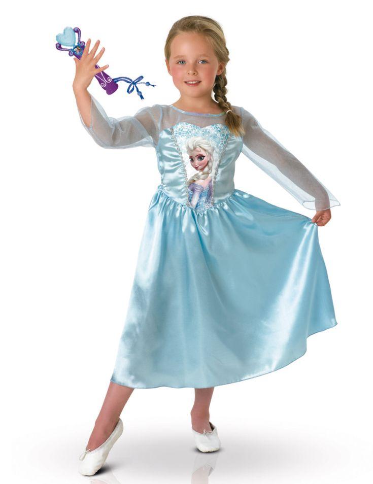 Pack disfraz clásico Elsa Frozen™ y micro