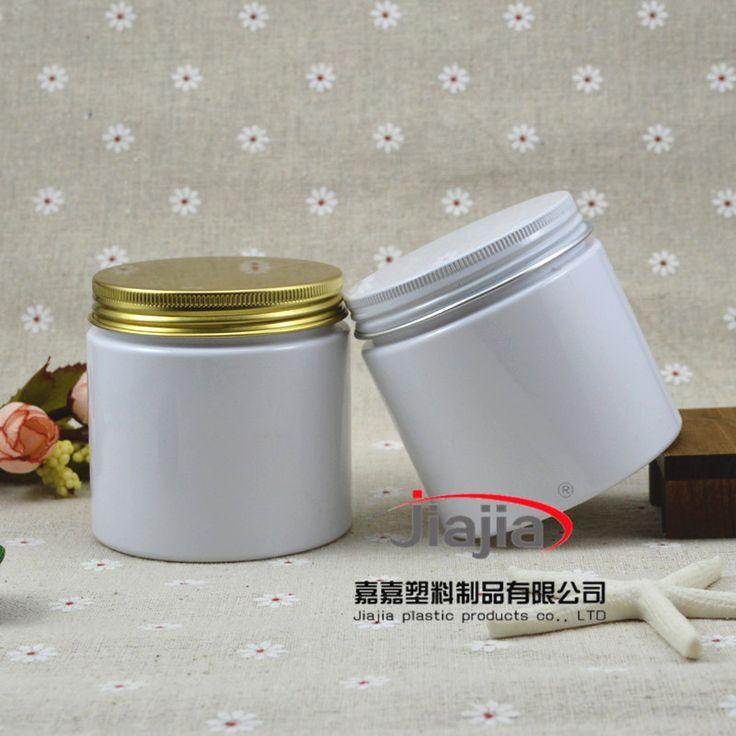 200g white  PET Food storage jars with aluminium cap, white 200ml Plastic Food Container ,200g plastic Cream white Jar wholesale #Affiliate