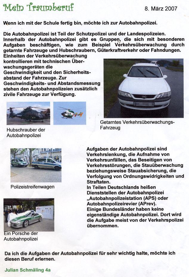 Mein Traumberuf - Autobahnpolizei - Naturfreund