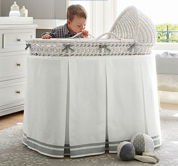 Pottery Barn Kids Bassinet with boy