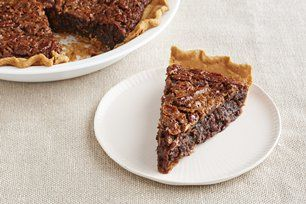 Chocolate-Coconut Pecan Pie Recipe - Kraft Recipes But VLS-I used butter, not margarine; 4 oz chocolate; & 1.5 c pecans & coconut