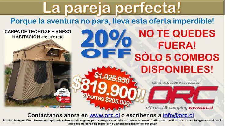 Último día! www.orc.cl #promo #carpadetecho #rooftop #rooftent