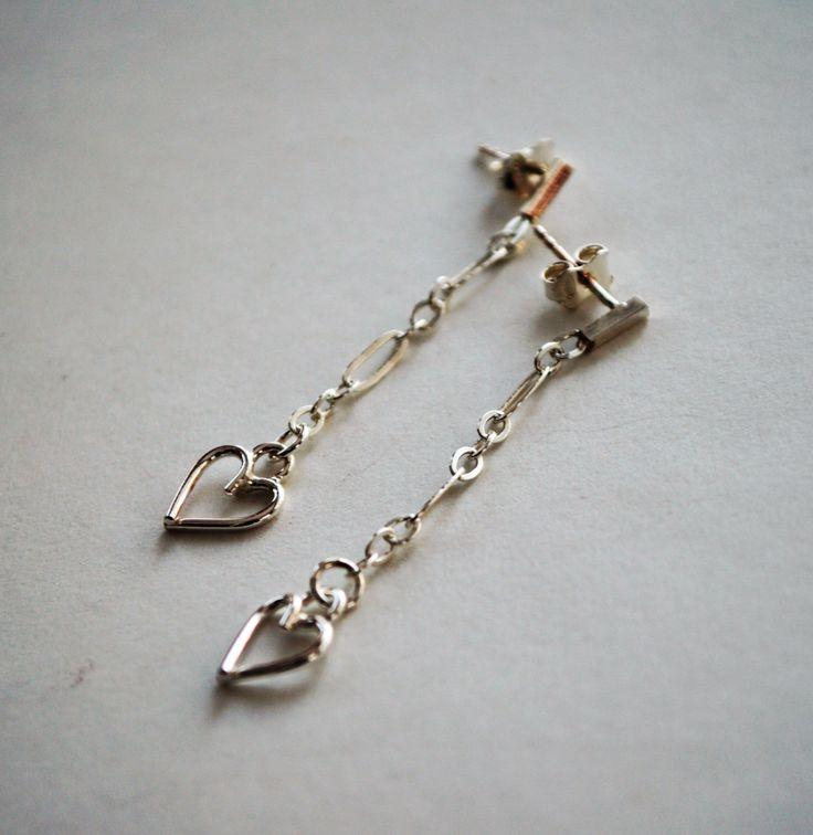 Boucles d'oreille (pendant d'oreille) en argent sterling by Atelierdekatou on Etsy