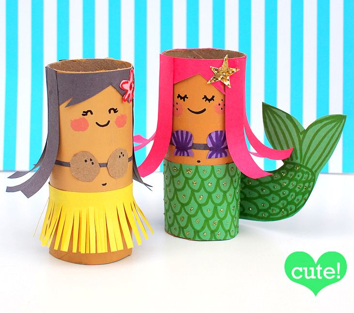 Toilet roll crafts are always a favourite here on MollyMoo and today's TP Roll Dolls embrace everything that is great about recycled crafts