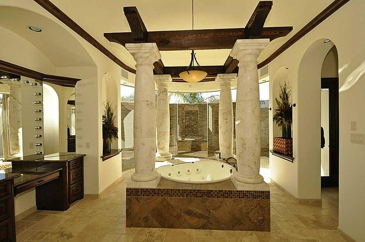 42 best master bath images on pinterest dream bathrooms for Master bathroom with sauna
