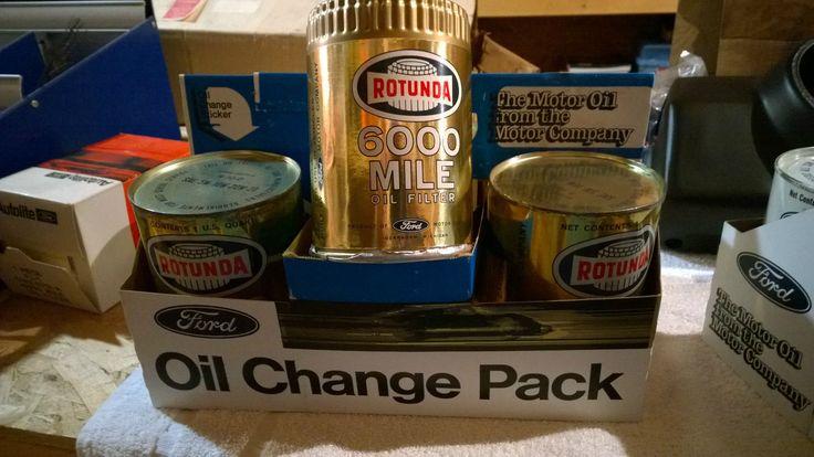 1965 66 Ford Mustang Oil Change 6 Pack w Rotunda Oil Change Sticker RARE | eBay