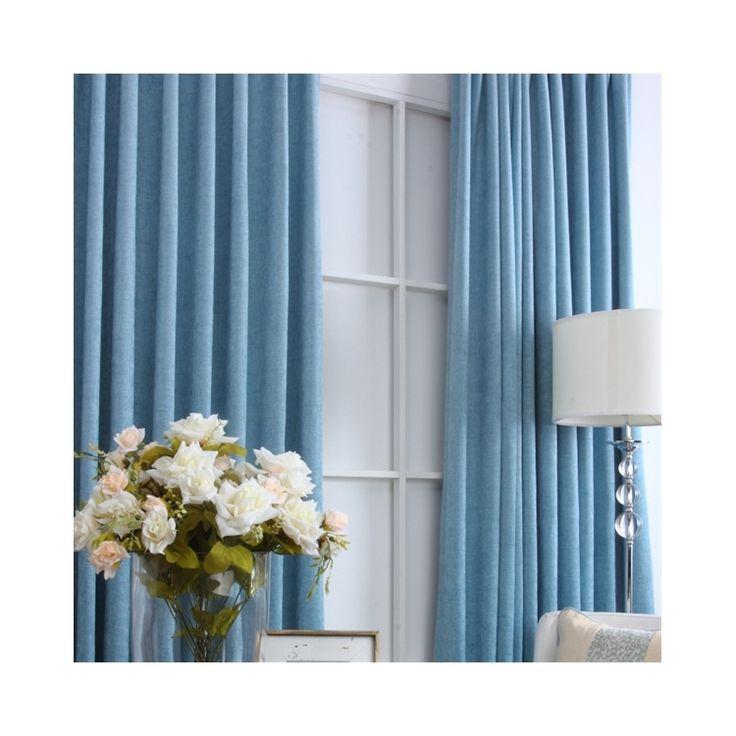 遮光カーテン 地中海風 ブルー 3級遮光カーテン(1枚)ML9123
