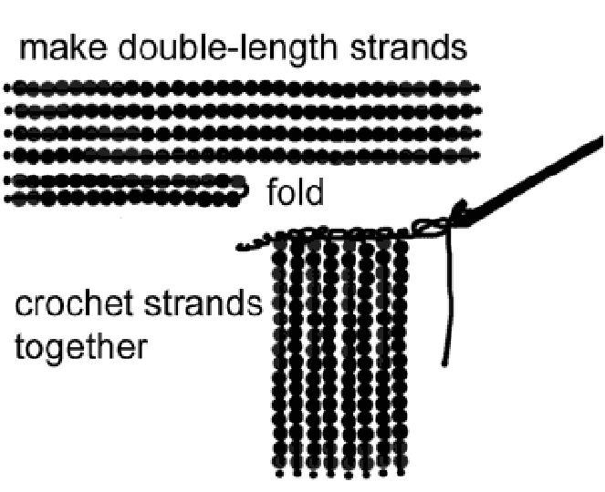 Diagram Showing How To Make Beaded Fringe