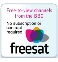 FreeSat is a new digital television service providing over 140 digital channels for a one-off payment. This service is available to almost every home in the UK and is ideal for people with poor freeview coverage through an aerial, or people wanting High Definition television. With the purchase of a FreeSat HD system anyone can enjoy the huge benefits in picture quality straight away with no montly subscription.