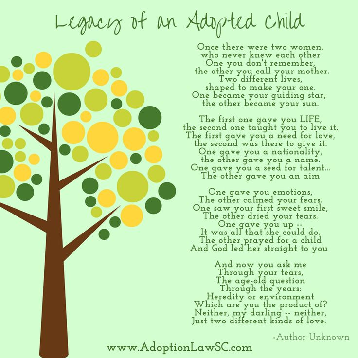 Legacy Of An Adopted Child Poem Adopt Poem Adoption Quote
