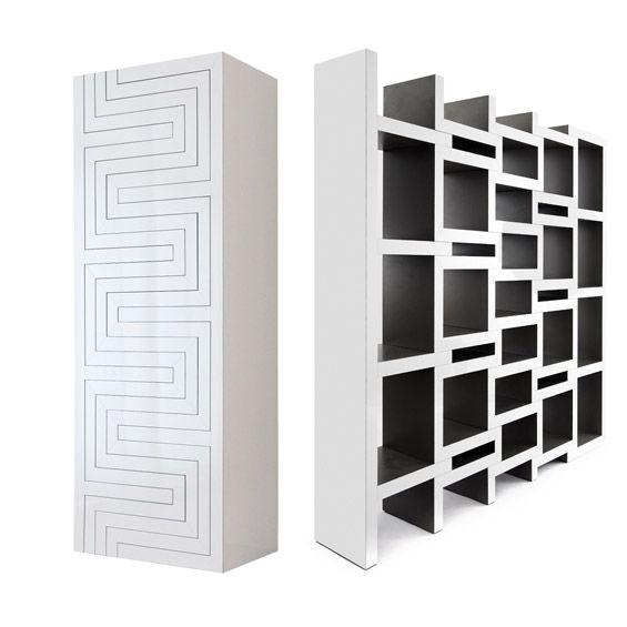 """Le designer Néerlandais Reinier de Jong nous présente son projet de Bibliothèque """"Rek"""". Une création massive qui évolue et se déploie au fil des besoins et du nombre d'ouvrages qu'elle accueille.  ...."""