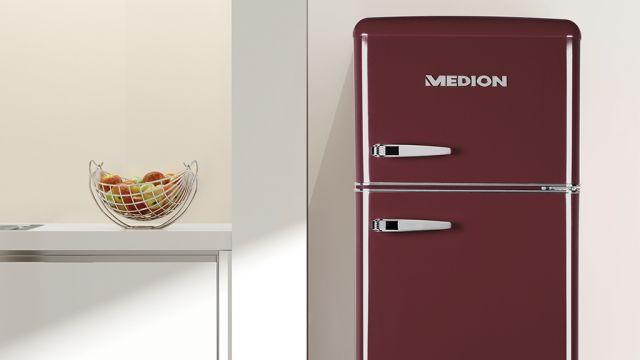 Smeg Kühlschrank French Door : Medion retro kühlschrank aldi süd bringt alternative zu smeg