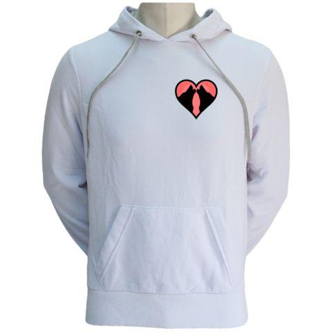One Heart Unisex Hoodie for Valentines - WOLFISH WORKSHOP