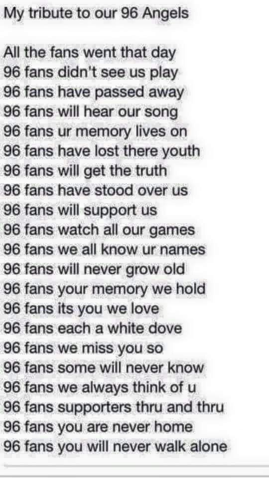 The years may pass and we the remembers get older , never though do the 96 grow faint and distant .