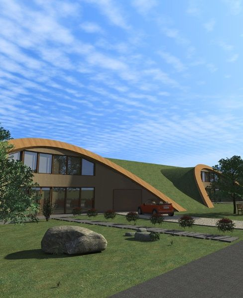 Berm Home: 30 Best Earth Sheltered And Berm Houses Images On