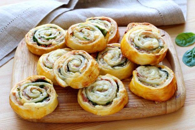 Comment faire des escargots feuilletés pour l'apéro (jambon et fromage) - 11 photos