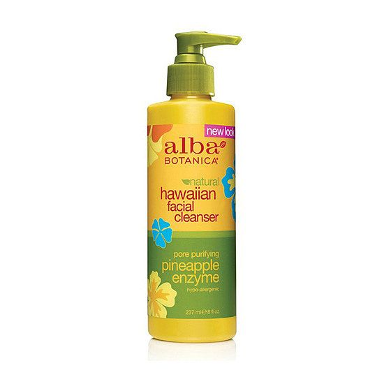 Alba Botanica Pineapple Enzyme Facial Cleanser ($13) is a blend of organic aloe vera, and pineapple and papaya enzymes to gently smooth away imperfections and to detox your pores.