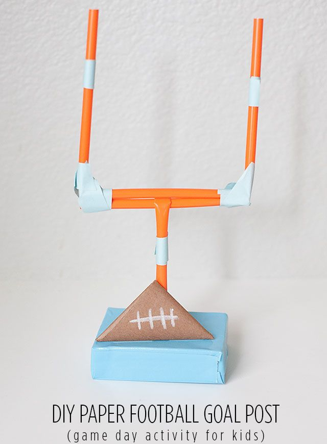 Chipper Recycle Craft: Super Bowl Football Game for Kids