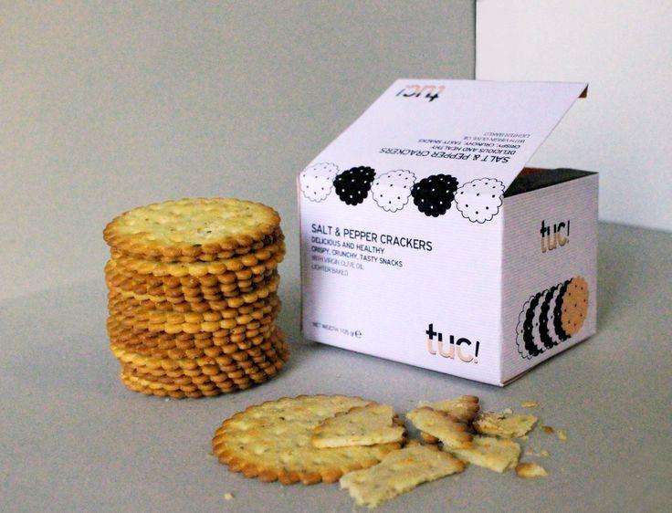 """tuc!"" cracker packaging"