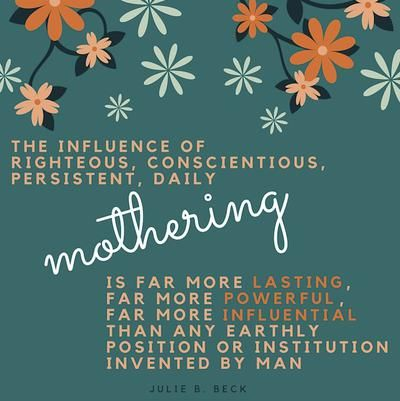 influence of single motherhood on the The influence of godly mothers the mother's job is a necessity (as with single moms) influence a godly mother and grandmother had on a well-known.