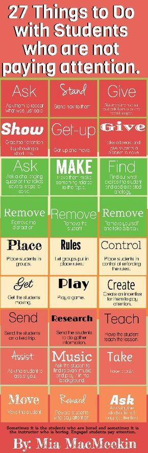 Tips for getting students to pay attention