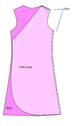 Lovely, free wrap dress pattern