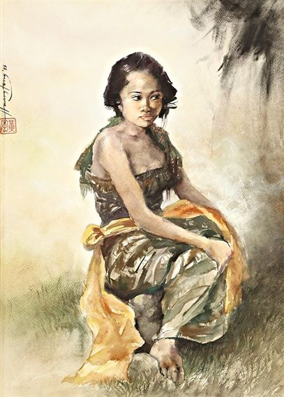 Seated Lady - Huang Fong