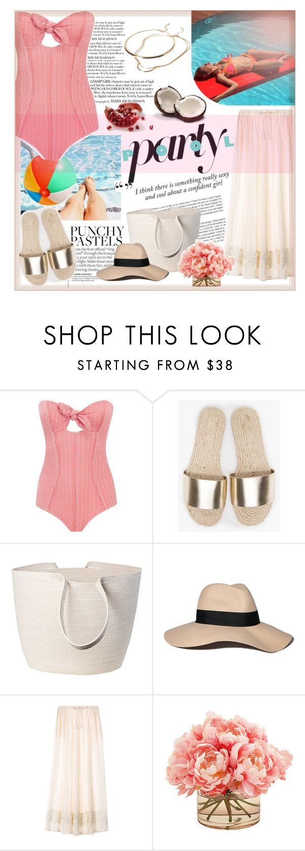 """""""Pool party"""" by viola-vu ❤ liked on Polyvore featuring Doug Johnston, Abercrombie & Fitch, Victoria's Secret, The French Bee, Forever 21, women's clothing, women, female, woman and misses"""