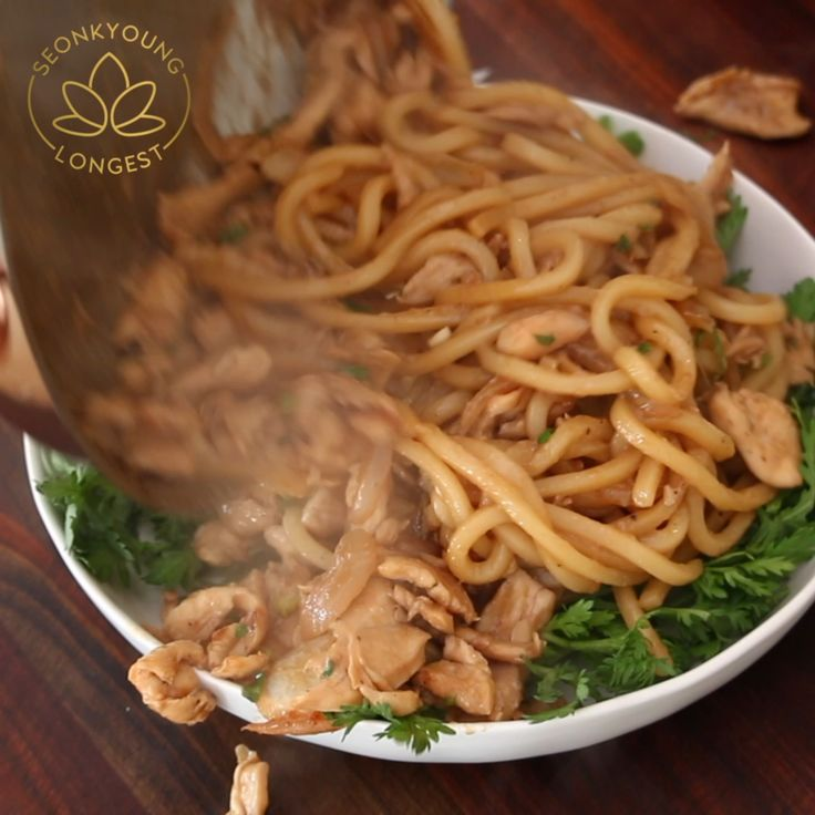 Easy Chicken Breast Recipes Fried: Chicken Bulgogi Udon Noodles [Video]
