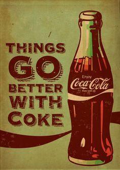 Tudo que for vintage, eu gosto. Vão enjoar de ver isso nas minhas pastas. E essa peça da Coca-Cola é linda!