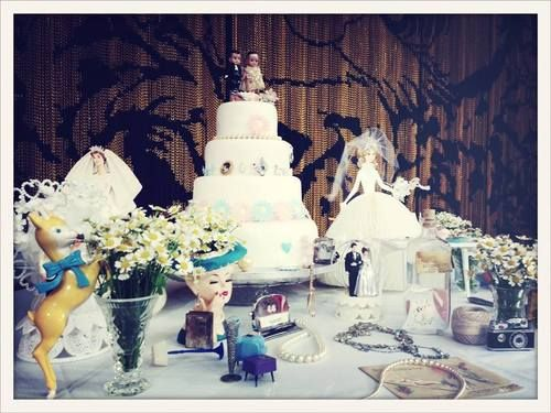 Cake Table Decoration - from The Fabulous Vintage Bride