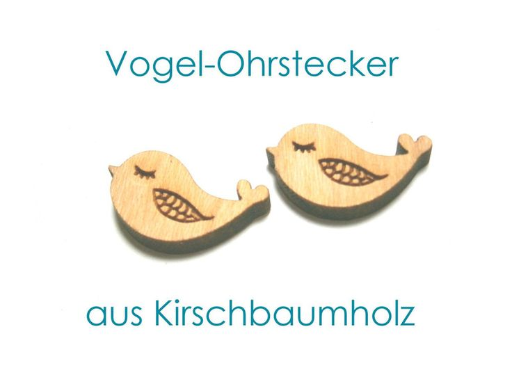 Holzohrstecker von DeineSchmuckFreundin - Schmuck und Accessoires auf DaWanda.com