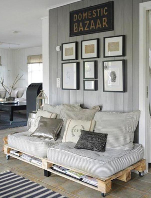 Wohnzimmer Grau Mit Sofa Aus Europaletten