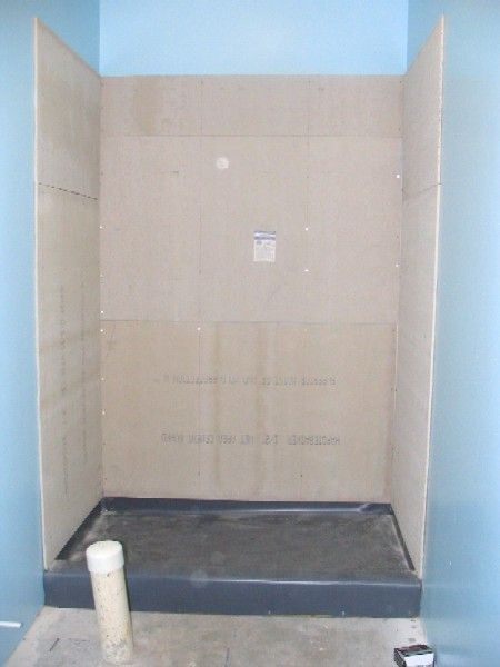 Basement Bathroom Tile Shower Stall: 40mil PVC Shower Pan Liner