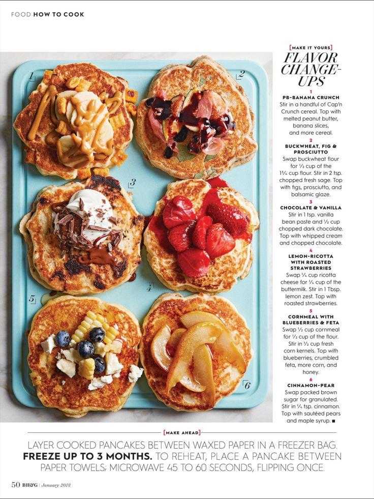 Best 25 pancake toppings ideas on pinterest lemon syrup - Better homes and gardens pancake recipe ...