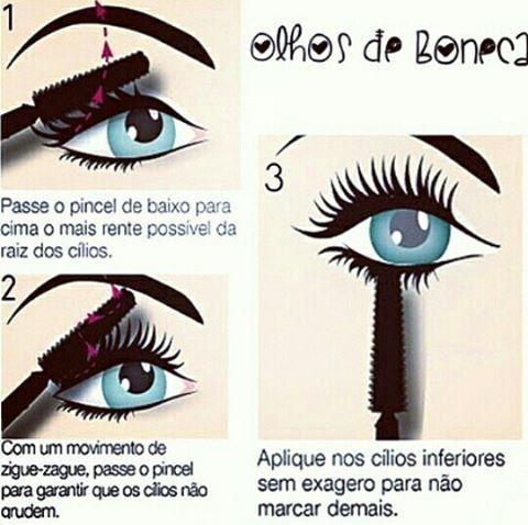 Quer #olhosdeboneca ? Que tal seguir essas dicas e arrasar pro aí ? #mascaradecilios #ciliosdeboneca #rimel #dicas #dicasparacilios